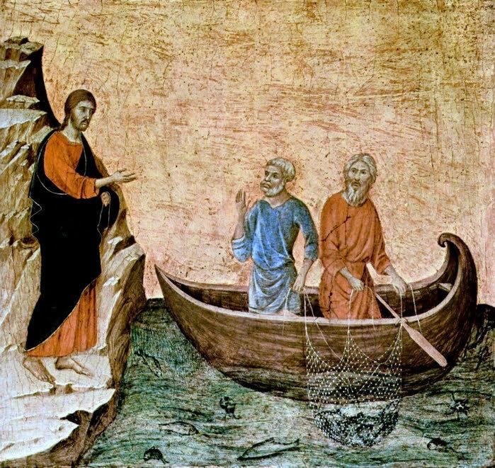 Duccio di Buoninsegna (d.1319) La chiamata di Pietro e di Andrea