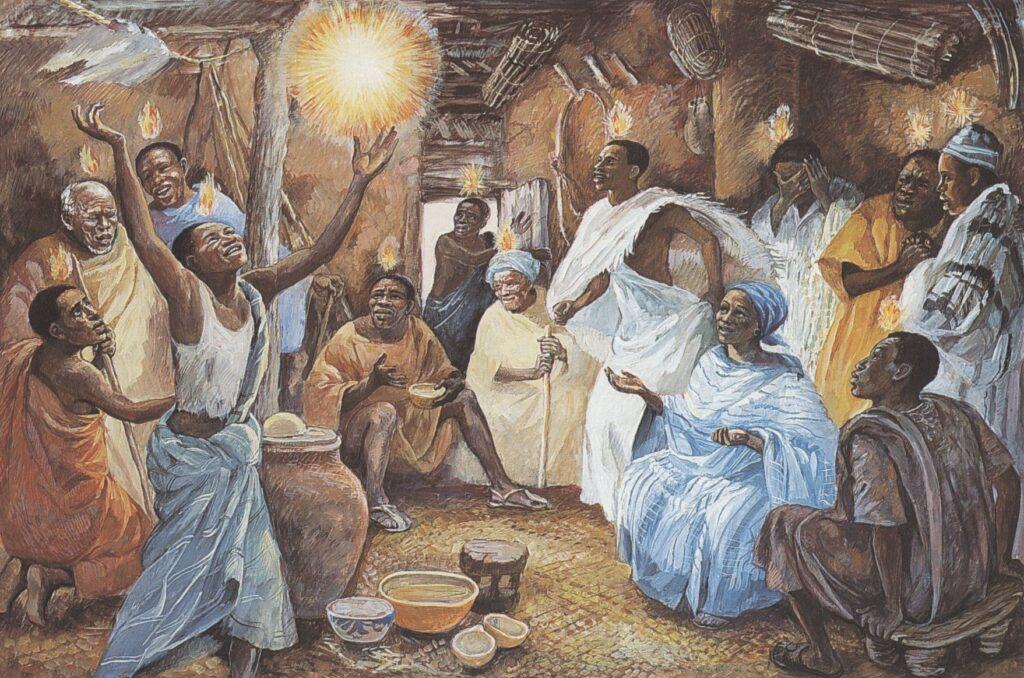 JESUS MAFA. Pentecost, from Art in the Christian Tradition, a project of the Vanderbilt Divinity Library, Nashville, TN.