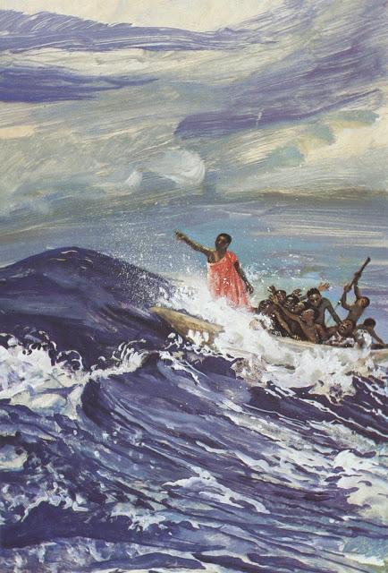 Jesus lulls a storm - Mark 4:35-41
