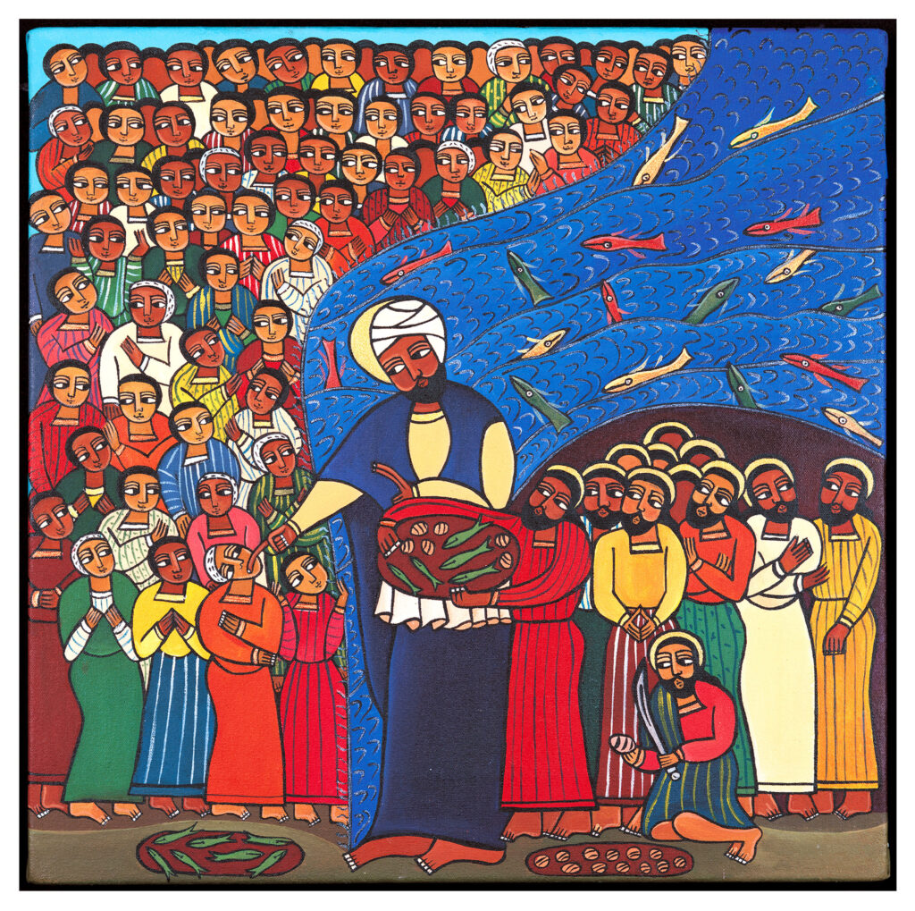 'Jesus Feeds the 5000' by Laura James (Ethiopian style)