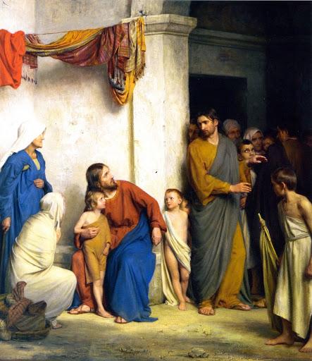 Carl Heinrich Bloch (1834–1890), Jesus Christ with the children (Suffer the Children)