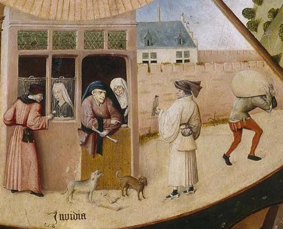 Hieronymus Bosch (circa 1450–1516), Table of the Mortal Sins (Envy)