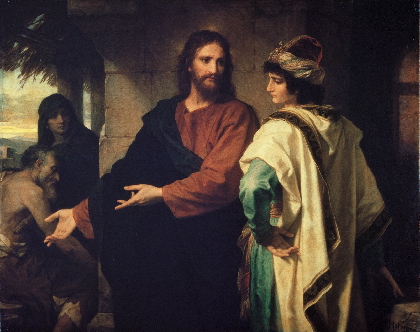 Heinrich Hofmann (1824 - 1911), Christ and the Rich Young Ruler.