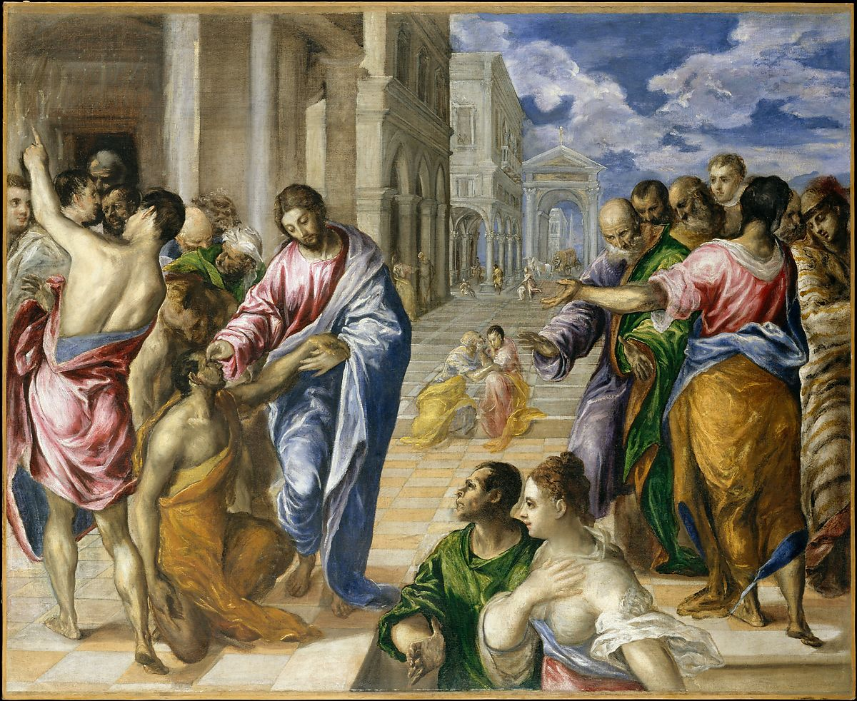 El Greco , Christ Healing the Blind (1541–1614). Painted in the 1570s